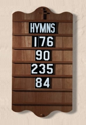 "Robert Smith 32""H Wall-Mount Hardwood Hymn Board"