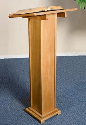 """Robert Smith 43""""H Maple Square-Base Lectern"""