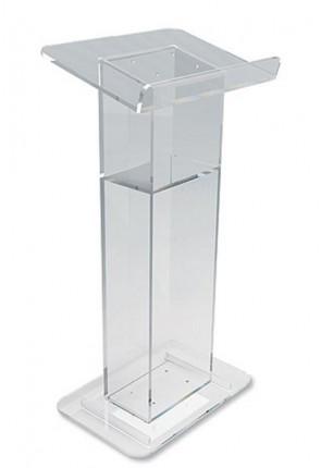 "Robert Smith 46""H Acrylic U-Shaped Lectern With Shelf"