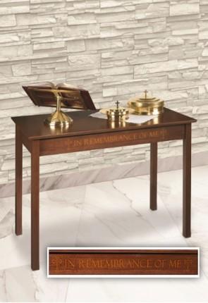 "Robert Smith 48""W Silk-Screened Maple Communion Table"