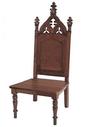 "Robert Smith Cathedral Collection 50""H Side Chair"