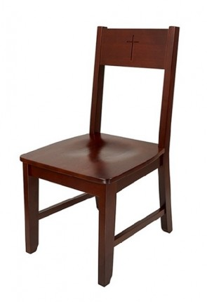 "Robert Smith Engraved Cross Collection 38-1/2""H Side Chair"