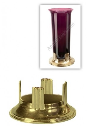 Root Candle Brass Stand For 7-8 Day Sanctuary Candle Globe