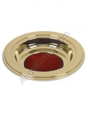 "Sudbury Brass 12""D Brass Tone Offering Plate"