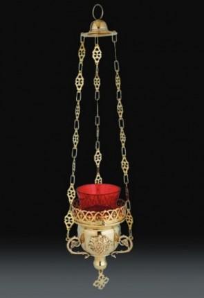 "Sudbury Brass 13""L Hanging Votive Lamp With Holder"