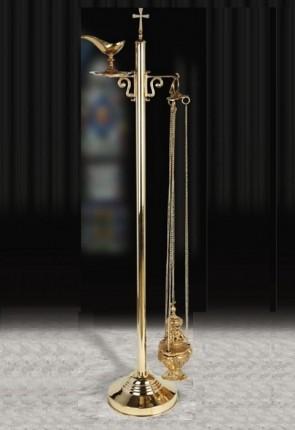 """Sudbury Brass 55""""H Censer Stand"""