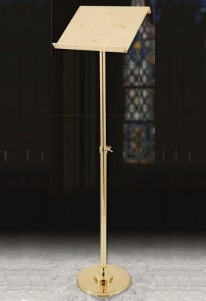 Sudbury Brass Adjustable Brass Round-Base Lectern