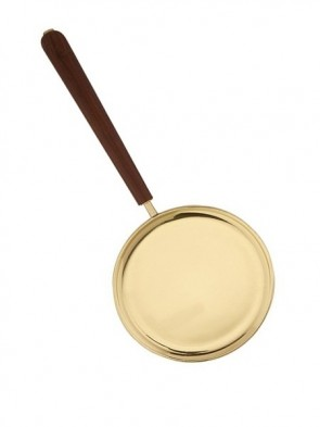 Sudbury Brass Paten With Straight Wooden Handle