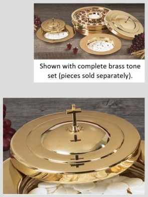 Sudbury Brass Polished Brass Tone Stacking Bread Plate Cover