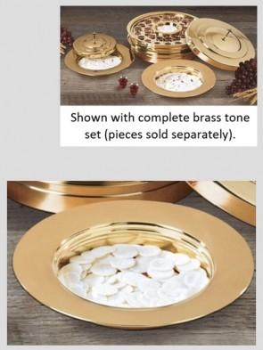 Sudbury Brass Polished Brass Tone Stacking Bread Plate
