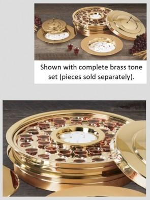 Sudbury Brass Polished Brass Tone Stacking Communion Tray
