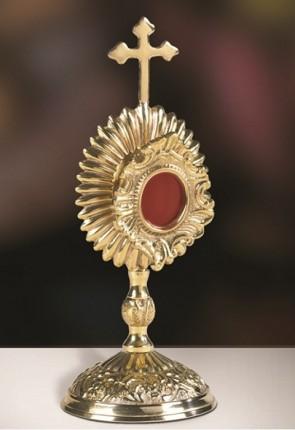 Sudbury Brass Budded Cross with Rays Reliquary