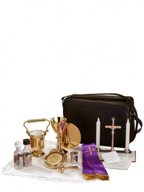 Sudbury Brass Cemetery Holy Water Pot Travel Set