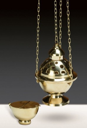 Sudbury Brass Censer And Incense Boat Set
