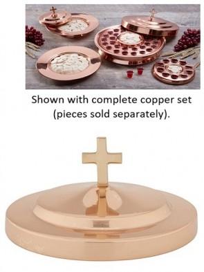 Sudbury Brass Copper Stacking Bread Plate Cover