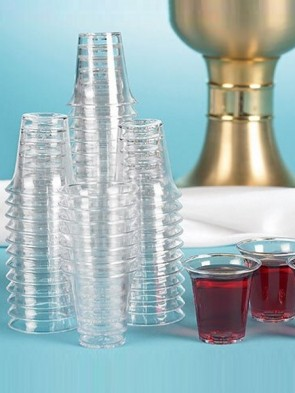 Sudbury Brass Disposable Plastic Communion Cups - Case of 4,000 Cups