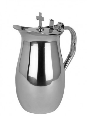 Sudbury Brass Stainless Steel Flagon with Cross Cover