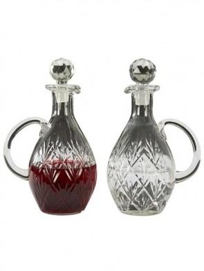 Sudbury Brass Glass Cruet Set