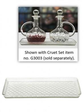 Sudbury Brass Glass Tray for Cruet Set