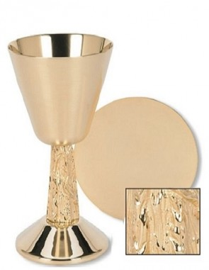Sudbury Brass Hand-Cast Vine Chalice and Paten Set