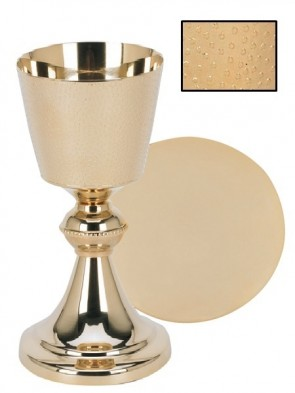 Sudbury Brass Hand-Hammered Chalice and Paten Set