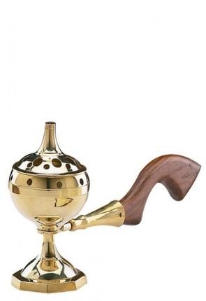 Sudbury Brass Wooden Handle Incense Burner