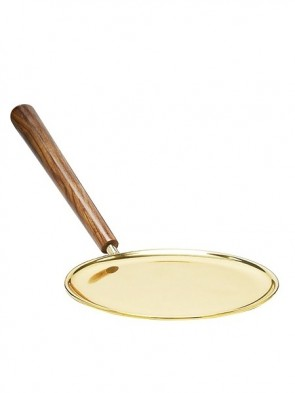 Sudbury Brass Paten With Wooden Handle