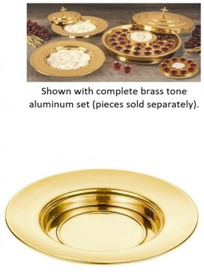 Sudbury Brass Polished Brass Tone Aluminum Bread Plate