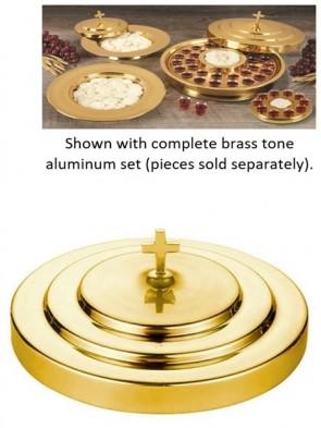 Sudbury Brass Polished Brass Tone Aluminum Communion Tray Cover