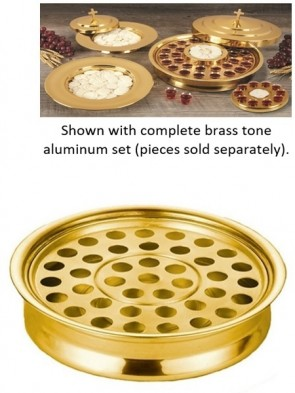 Sudbury Brass Polished Brass Tone Aluminum Stacking Communion Tray