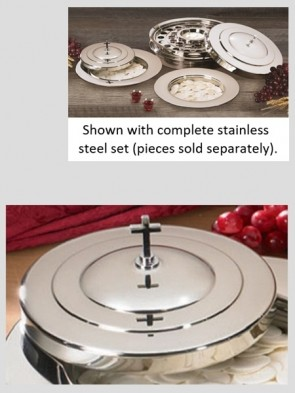 Sudbury Brass Stainless Steel Stacking Bread Plate Cover