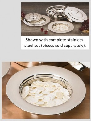 Sudbury Brass Stainless Steel Stacking Bread Plate