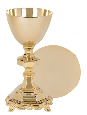 Sudbury Brass Traditional Chalice and Paten Set