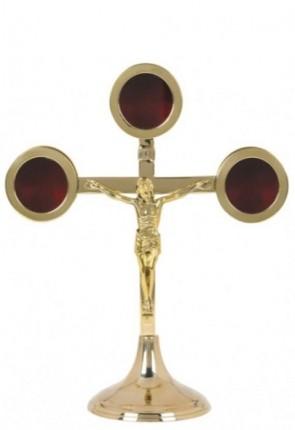Sudbury Brass Triune Reliquary with Crucifix