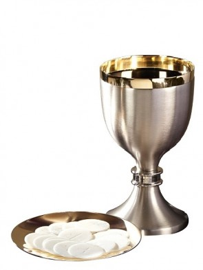 Sudbury Brass Two-Tone Chalice and Paten Set