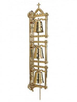 """Sudbury Brass Wall-Mounted Bell Set With 70""""L Chain"""