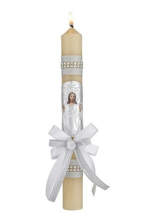 """Will & Baumer 1-1/4""""D """"Light of The World"""" Baptism Candle - Box of 4 Candles"""