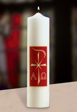 "Will & Baumer 3""D Alpha Omega Christ Candle"