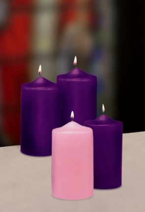 "Will & Baumer 3""D Paraffin-Based Advent Candle Set"