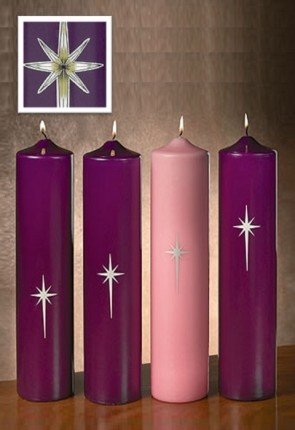 "Will & Baumer 3""D Paraffin-Based Star Of Bethlehem Advent Candle Set"
