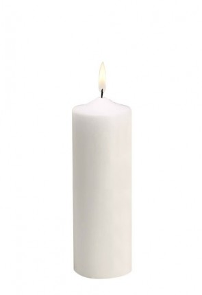 "Will & Baumer 3""D Plain Christ Candle"
