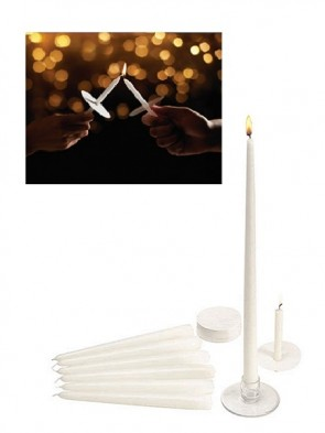 "Will & Baumer 4-1/4""H Candlelight Service Set - 50 Parishioners"