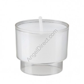 Will & Baumer Brite-Lite Clear, Plastic, 10-Hour Disposable Votive Candle - Case Of 288 Candles