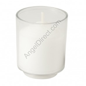 Will & Baumer Brite-Lite Clear, Plastic, 15-Hour Disposable Votive Candle - Case Of 144 Candles