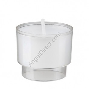 Will & Baumer Brite-Lite Clear, Plastic, 4-Hour Disposable Votive Candle - Case Of 504 Candles