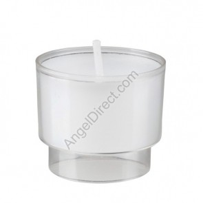 Will & Baumer Brite-Lite Clear, Plastic, 6-Hour Disposable Votive Candle - Case Of 192 Candles