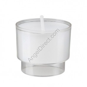 Will & Baumer Brite-Lite Clear, Plastic, 6-Hour Disposable Votive Candle - Case Of 504 Candles