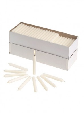 "Will & Baumer No. 1 6-1/2""H Polar-Brand Parishioner Candles - Carton Of 250"