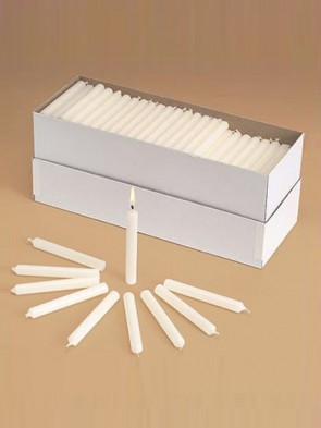"Will & Baumer No. 2 5-3/4""H Polar-Brand Parishioner Candles - Carton Of 250"