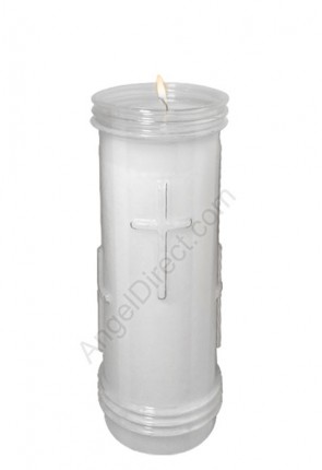 Will & Baumer 7-Day Sanctolite Plastic Candle for Outdoor Use - Case of 12 Candles